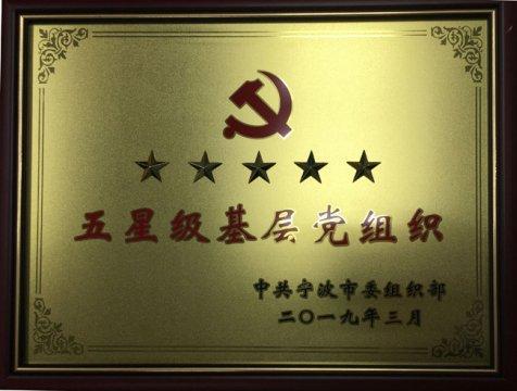 """爱博体育lovebet党支部喜获""""五星级基层党组织""""荣誉称号"""
